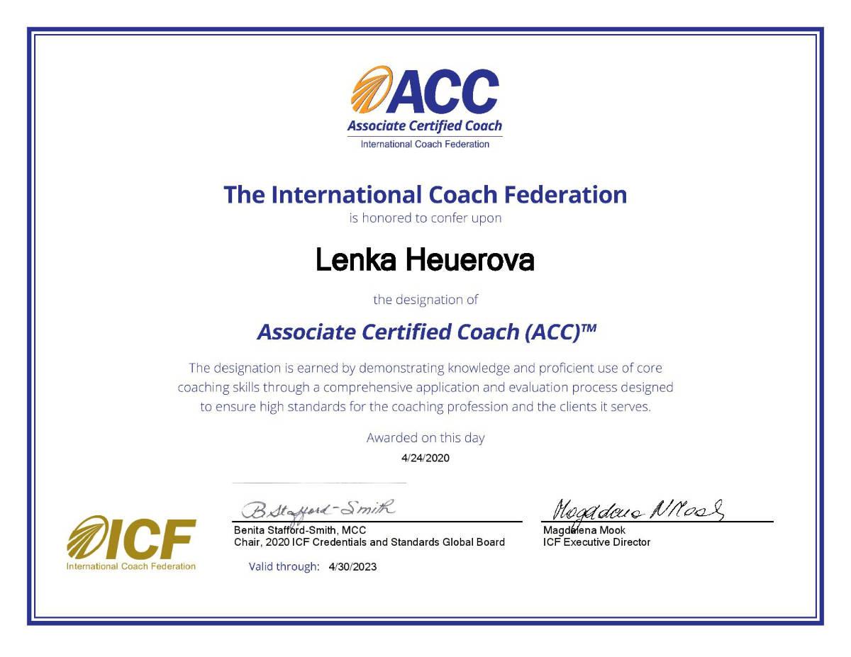 Certifikát ACC
