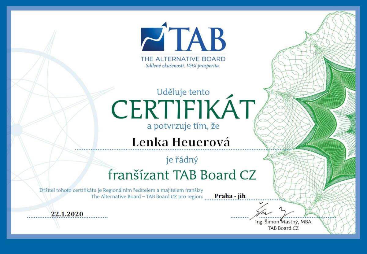 Certifikát TAB